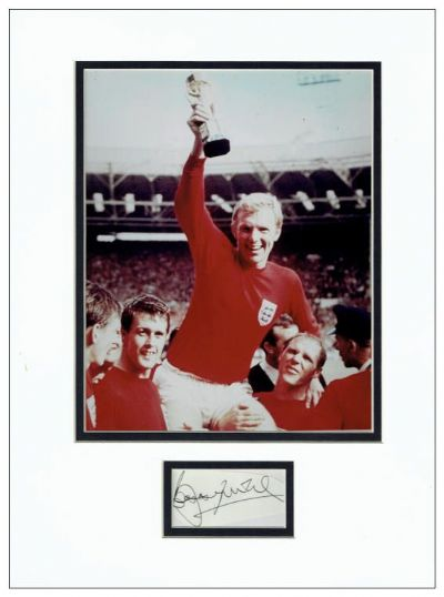 Bobby Moore Autograph Display